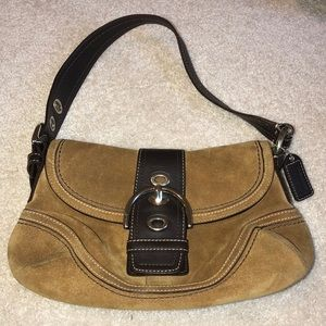 Vintage Suede and Leather Coach Bag